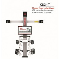 Original LAUNCH X831T 3D 4-Post Car Alignment Lifts Platform Classic Fixed Height Type 32inch Display Screen Dual-Screen Upgrade